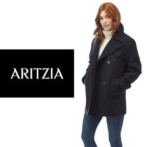 TNA Fitted Melton Pea Coat - Small